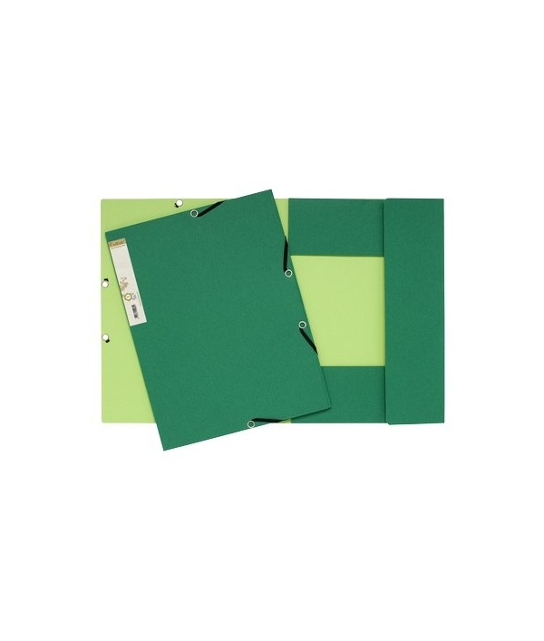 Cartelle 3 lembi forever exacompta esterno verde scuro for Interno verde