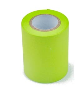 Conf.6 Rotoli in carta autoadesiva  removibile verde neon per MEMOIDEA Tape Dispenser
