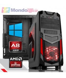 PC GAMING AMD A8-7680 Quad Core - Ram 16 GB - SSD 480 GB - WI-FI - Windows 10 Professional