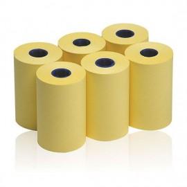 Rotoli per note giallo pastello in carta autoadesiva removibile per Memo Roll