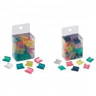 Molle fermacarte in polistirene, trasparenti e colorate per rilegatrice fascicolatrice Alizèe