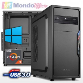 PC linea OFFICE AMD RYZEN 3 3200G 4 Core 4,00 Ghz - Ram 8 GB DDR4 - SSD 480 GB - Windows 10 Pro