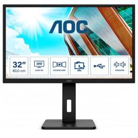 "AOC Q32P2 monitor piatto per PC 80 cm (31.5"") 2560 x 1440 Pixel 2K Ultra HD LED Nero"