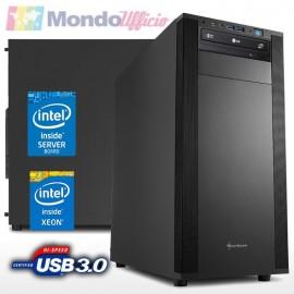 SERVER Intel XEON E-2224 3,40 Ghz - Ram 16 GB DDR4 - N. 2 SSD 1 TB Samsung 870 EVO RAID1 - DVD