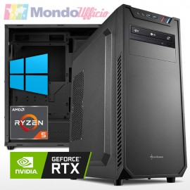 PC linea WORKSTATION AMD Ryzen 5 5600X - Ram 16 GB - SSD M.2 500 GB - HD 2 TB - RTX 3060 12 GB - Windows 10 Pro