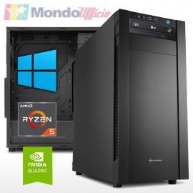 PC linea WORKSTATION AMD Ryzen 5 5600X - Ram 16 GB - SSD M.2 500 GB - HD 2 TB - Quadro T1000 4 GB - Windows 10 Pro