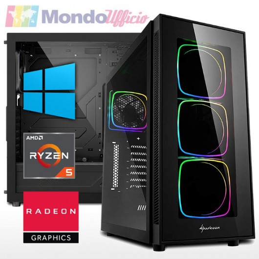 PC GAMING AMD RYZEN 5 5600X 4,60 Ghz - Ram 16 GB - SSD M.2 1 TB - HD 2 TB - ATI RX 6700 XT 12 GB - Windows 10 Pro