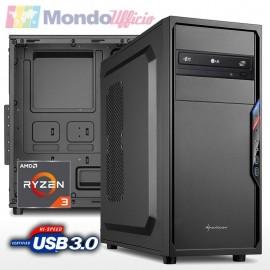 PC linea OFFICE AMD RYZEN 3 4300GE - Ram 8 GB DDR4 - SSD M.2 500 GB - Masterizzatore DVD - USB 3.2