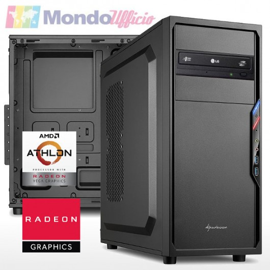 PC linea OFFICE AMD ATHLON 3000G 3,50 Ghz - Ram 8 GB DDR4 - SSD M.2 500 GB - Masterizzatore DVD