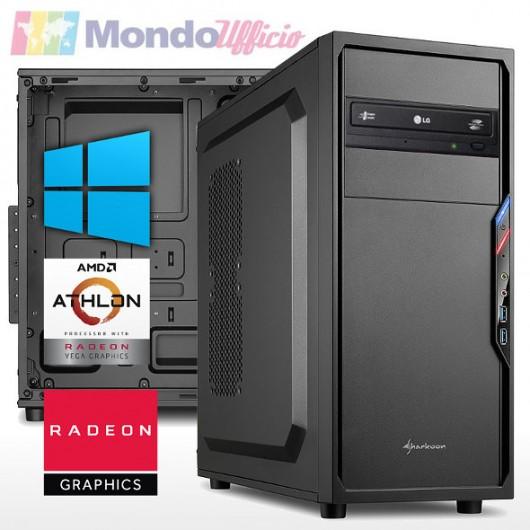 PC linea OFFICE AMD ATHLON 3000G 3,50 Ghz - Ram 16 GB DDR4 - SSD M.2 1 TB - DVD - Windows 10 Professional