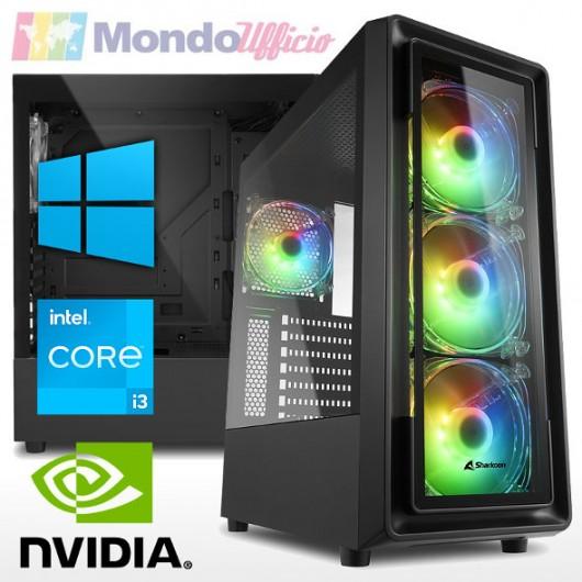 PC linea GAMING Intel i3 10100F 4,30 Ghz - Ram 16 GB - SSD M.2 1 TB - Wi-Fi - nVidia GTX 1650 4 GB - Windows 10 Pro