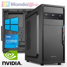 PC linea WORKSTATION Intel i5 11400F 6 Core - Ram 16 GB - SSD M.2 500 GB - nVidia GTX 1050Ti 4 GB - Windows 10 Pro