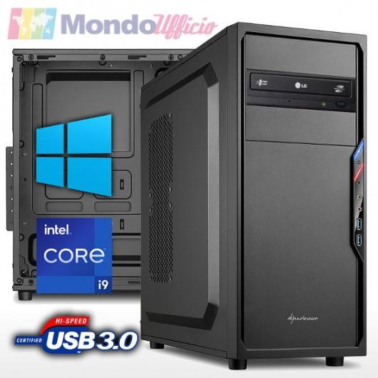 PC linea OFFICE Intel i9 10900 10 Core 5,20 Ghz - Ram 16 GB DDR4 - SSD M.2 500 GB - DVD - Windows 10 Pro