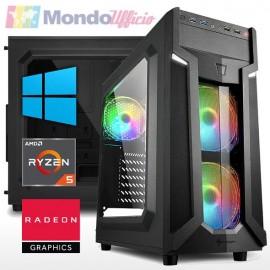 PC GAMING AMD RYZEN 5 5600G 4,40 Ghz - Ram 16 GB DDR4 - SSD M.2 500 GB - WI-FI - DVD - Windows 10 Professional