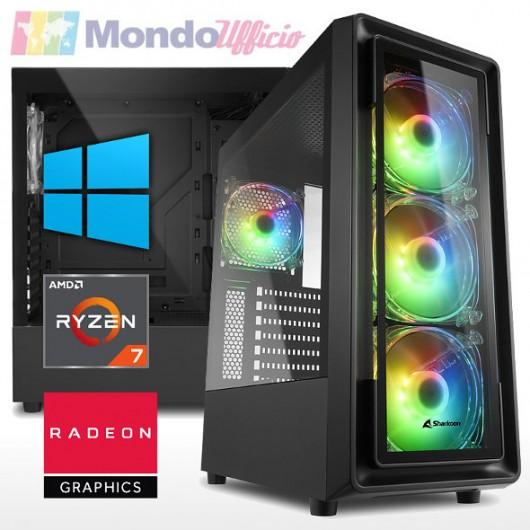 PC GAMING AMD RYZEN 7 5700G 4,60 Ghz 8 Core - Ram 32 GB DDR4 - SSD M.2 1 TB - W-Fi - Windows 10 Pro