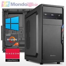 PC linea OFFICE AMD RYZEN 7 5700G 8 Core 4,60 Ghz - Ram 16 GB DDR4 - SSD M.2 500 GB - DVD - Windows 10 Pro