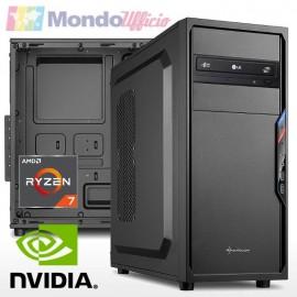 PC linea OFFICE AMD RYZEN 7 3700X 8 Core - Ram 16 GB - SSD M.2 256 GB - nVidia GT 710 2 GB - DVD - Card reader