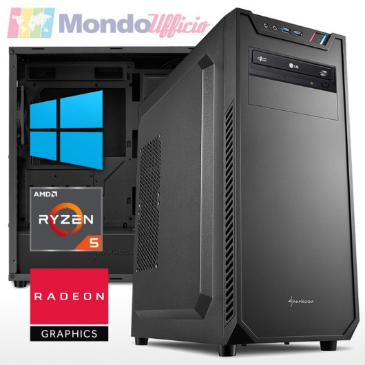 PC linea OFFICE AMD RYZEN 5 5600G 4,40 Ghz - Ram 16 GB DDR4 - SSD M.2 500 GB - HD 2 TB - Windows 10 Pro